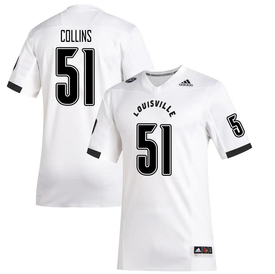 Men #51 Austin Collins Louisville Cardinals College Football Jerseys Sale-White
