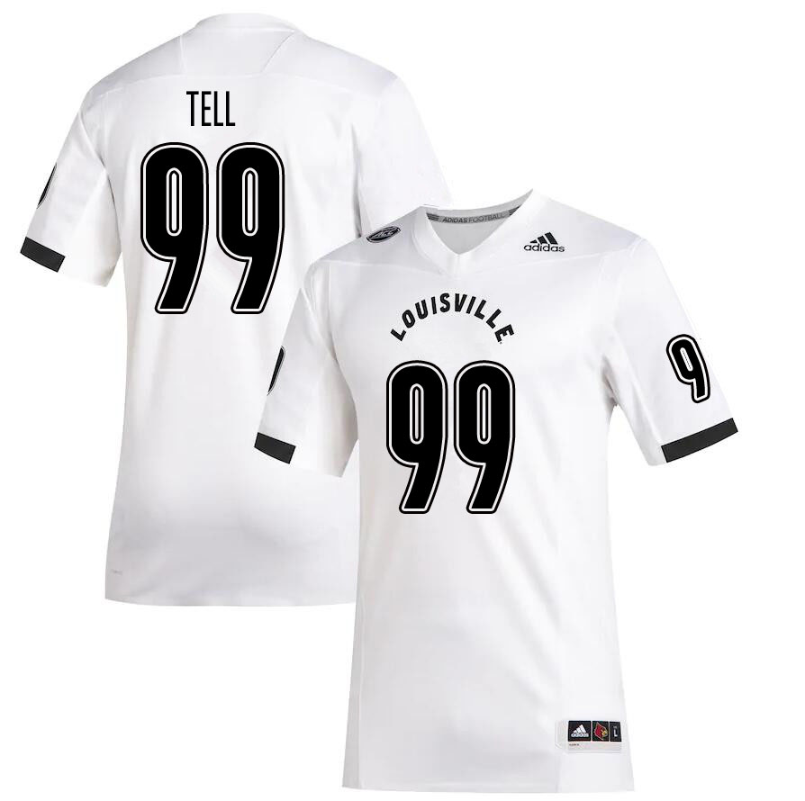 Men #99 Dezmond Tell Louisville Cardinals College Football Jerseys Sale-White