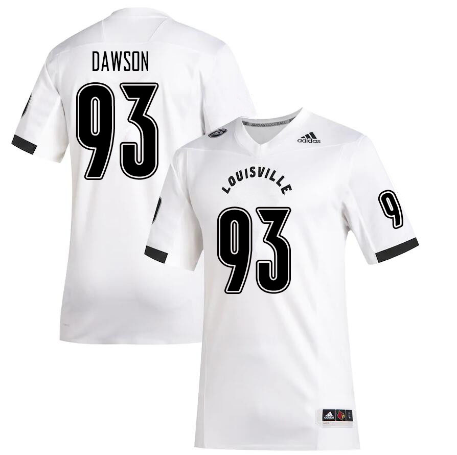 Men #93 Jared Dawson Louisville Cardinals College Football Jerseys Sale-White