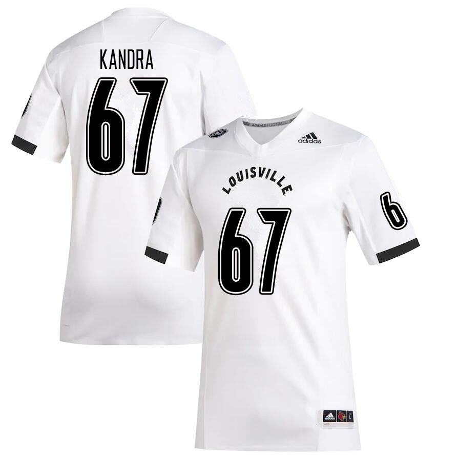 Men #67 Luke Kandra Louisville Cardinals College Football Jerseys Sale-White