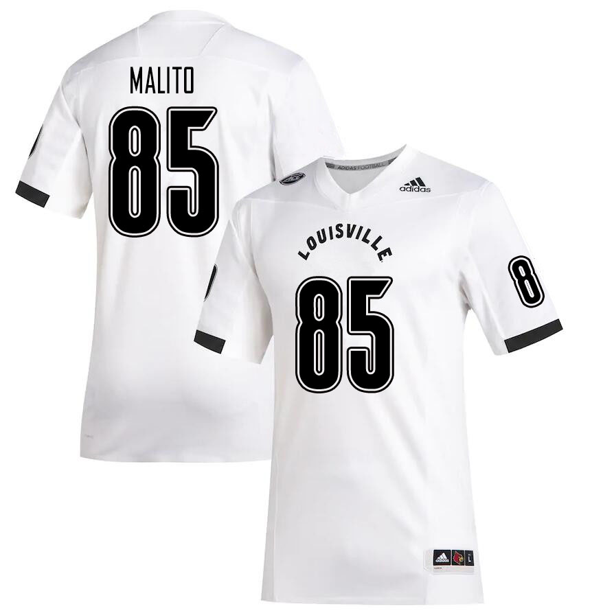 Men #85 Nicholas Malito Louisville Cardinals College Football Jerseys Sale-White