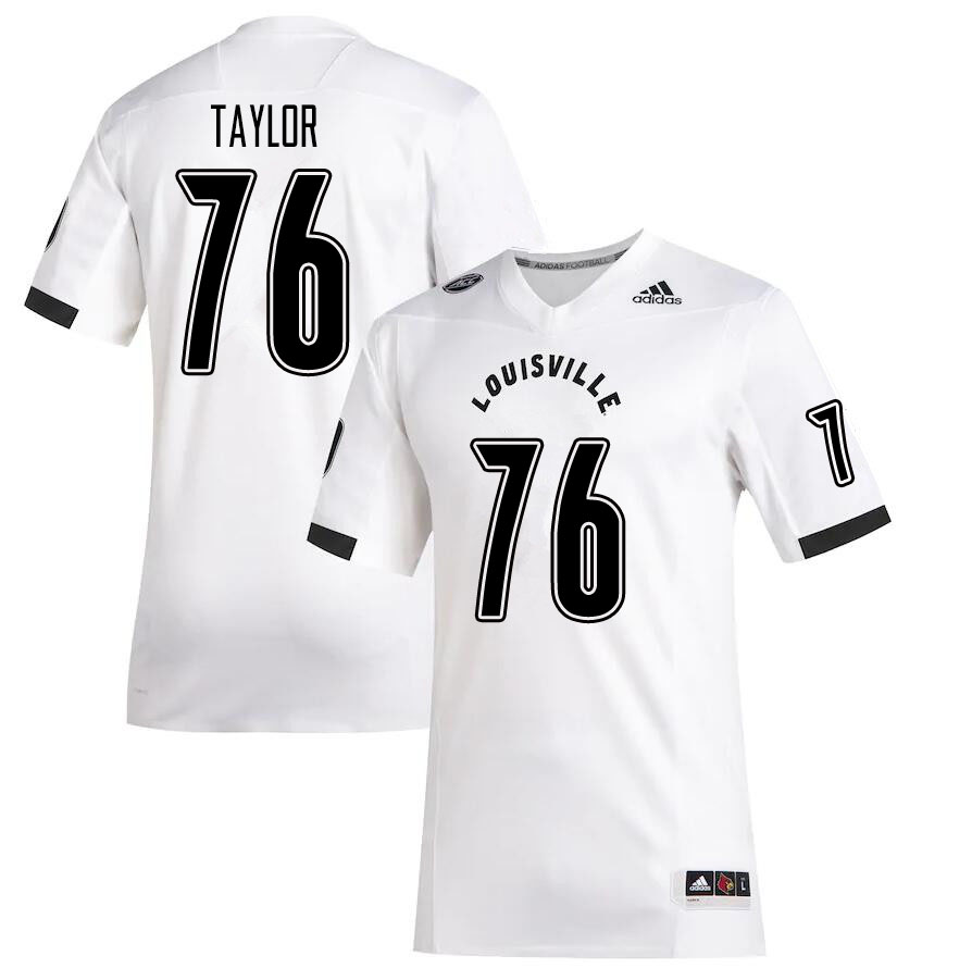 Men #76 Travis Taylor Louisville Cardinals College Football Jerseys Sale-White