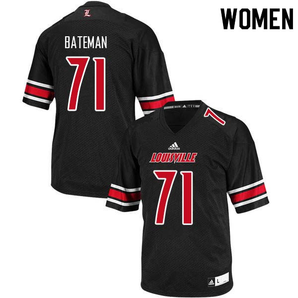 Women Louisville Cardinals #71 Toryque Bateman College Football Jerseys Sale-Black