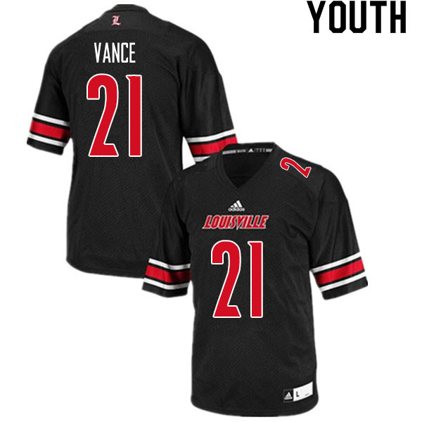 Youth #21 Greedy Vance Louisville Cardinals College Football Jerseys Sale-Black